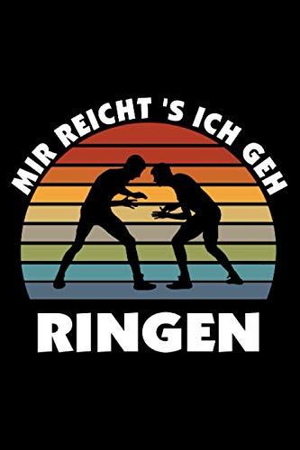Ringer Notizbuch: Schönes Ringer Notizbuch mit 120 karierten Seiten im A5 Format