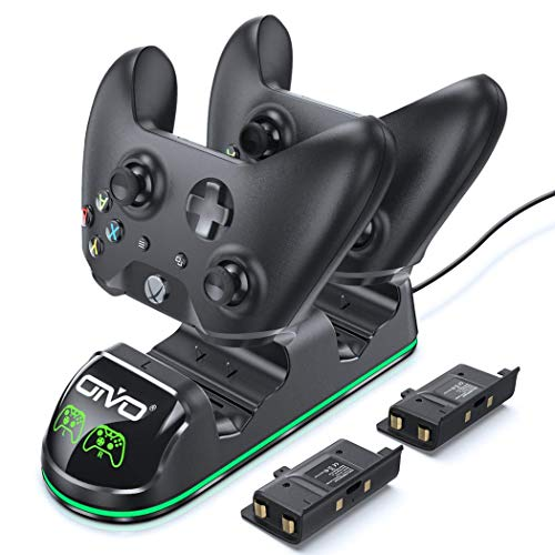 OIVO Chargeur Manette Xbox One, Station de Recharge Rapide pour Xbox One/One X/One S/One Elite, Chargeur pour Manette avec 2 x 600 mAh Batteries Rechargeables