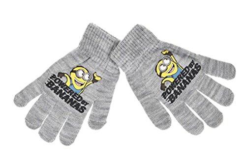 Handschuhe für Kinder, Jungen, Motiv Minions, Grau und Blau, Einheitsgröße (3/8 Jahre) (Grau)