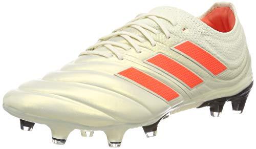 adidas Copa 19.1 FG, Zapatillas de Fútbol Hombre, Blanco (Off White/Solar Red/Core Black Off White/Solar Red/Core Black), 43 1/3 EU