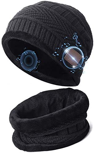 Bluetooth Beanie Hat with Scarf Gifts for Teens Boys Girls 5 0 Bluetooth Beanie Headphones Knit product image