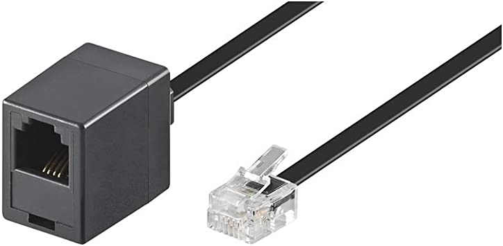 Goobay 68259 Modularanschlusskabel 3 Meter Schwarz Elektronik