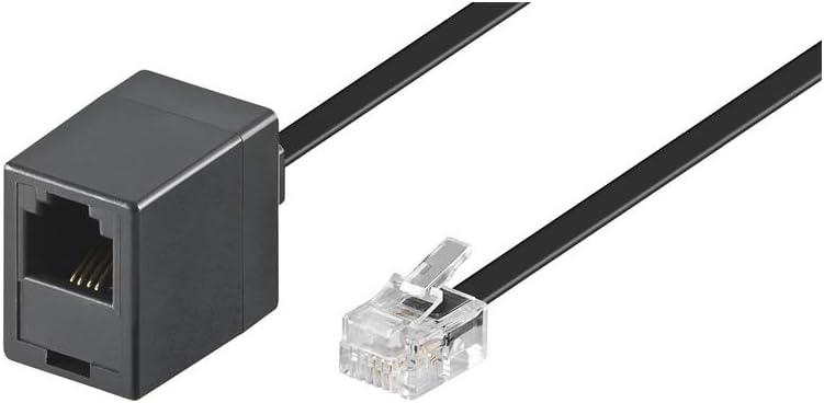 Goobay 68258 Modularanschlusskabel 15 Meter Schwarz Elektronik