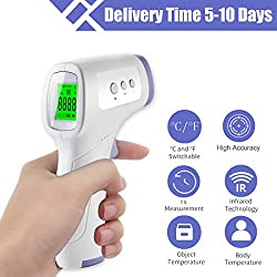 Non-Contact Forehead Infrared Thermometer, Accurate Digital Thermometer for Baby Kids Child and Adults, Instant Measurement No Touch Forehead Temperature Gun with Celsius Fahrenheit and LCD Display