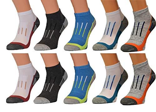 BestSale247 12 Paar Herren Sneaker Socken Füßlinge Kurzsocken Baumwolle (Farbmix, 39/42)