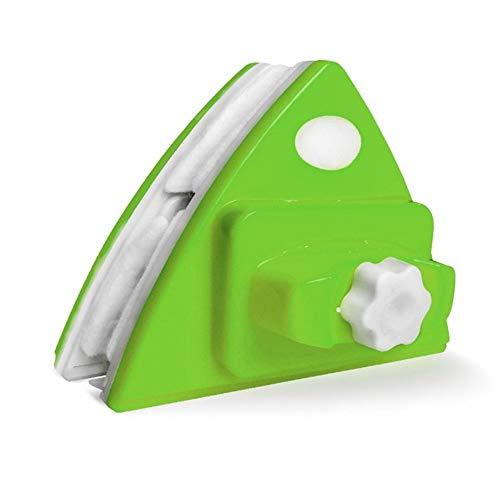 S-t-x Einstellbare Magnet Roboter Fensterreiniger, ABS-Material große magnetische Glider Washing Glasreinigungsbürste, 4-22mm for Windows/Aquarium/Dusche-Schirm (Color : Green)