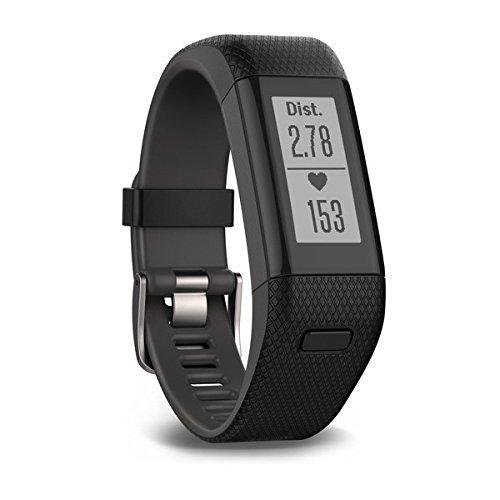 Garmin vívosmart HR+ Fitness-Tracker – GPS-fähig, Herzfrequenzmessung am Handgelenk, Smart Notifications Black, M – L, 010-01955-30 - 3