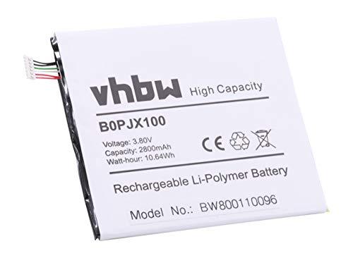 vhbw Li-Polymer Akku 2800mAh (3.85V) für Handy Smartphone Handy HTC One E9st, E9sw, E9w wie BOPJX100, 35H00239-00M, u.a.