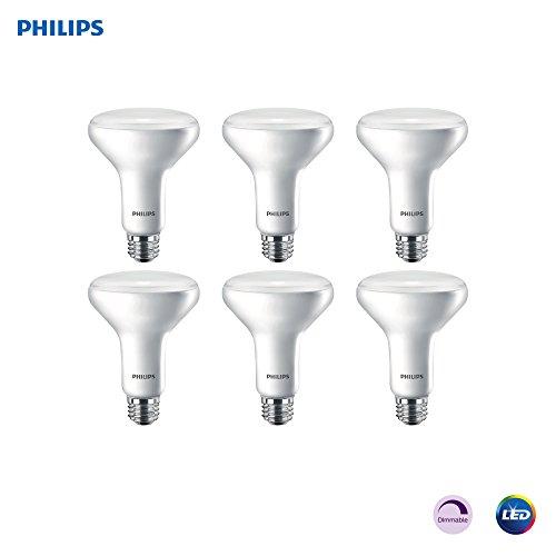 Philips LED Dimmable BR30 Light Bulb: 650-Lumen, 2700-Kelvin, 11-Watt (65-Watt Equivalent) E26 Base, Frosted, Soft White, 6-Pack