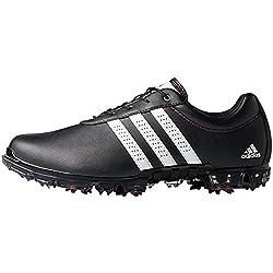 adidas Men's Adipure Flex Wd Golf Shoes, Black (Core Black / White / Power Red), 44 EU