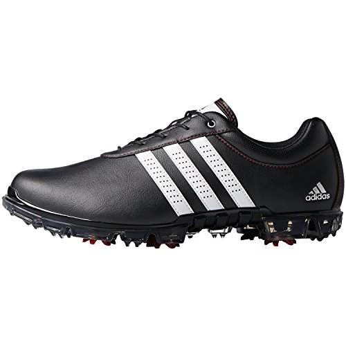 adidas Herren Adipure Flex Wd Golfschuhe, Schwarz (Core Black/White/Power Red), 40 EU