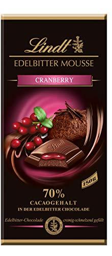 Lindt Mousse Cranberry, Edelbitter-Chocolade mit Cranberry-Füllung, 13er Pack (13 x 150 g)