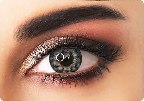 Farbige kontaktlinsen in GRAU mit dunklen Kreises- 3 Monaten- ohne Stärke + gratis Kontaktlinsenbehälte ADORE- Dare collection - DARE GREY