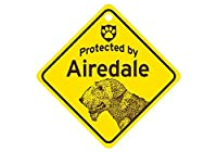 Protected by Airdale スモールサインボード:エアデール 監視中 ミニ看板 アメリカ製 Made in U.S.A [並行輸入品]