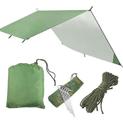 Gnohnay Hammock Rain Fly Tent Tarp, Waterproof Windproof Camping Shelter Sunshade 300cmx 300cm, Portable Beach Sun Shelter Camping Tent for Camping Outdoor Picnic Travel
