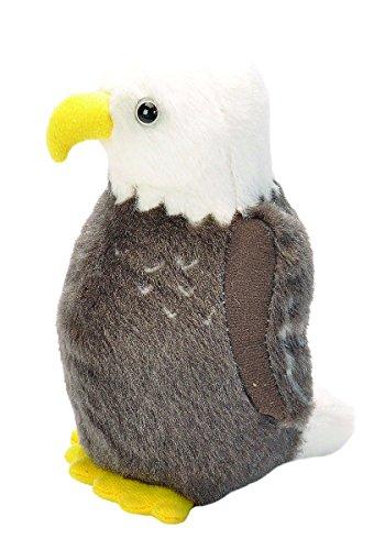 Wild Republic Audubon Birds Bald Eagle Plush with Authentic Bird Sound, Stuffed Animal, Bird Toys for Kids and Birders