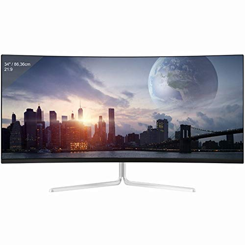 LC-Power LC-M34-UWQHD-100-C-V2 Gaming Curved 21:9 8ms 100Hz 3xHDMI DisplayPort VESA WQHD Weiß S