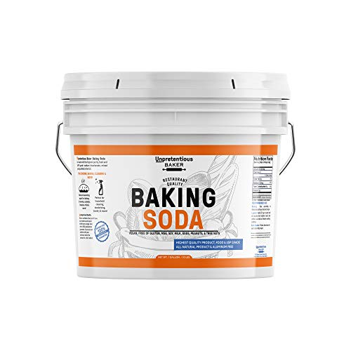 Baking Soda (Sodium Bicarbonate) (1 gallon) by Unpretentious Baker, Resealable Bucket, Restaurant Quality, Highest Purity, Food & USP Pharmaceutical Grade
