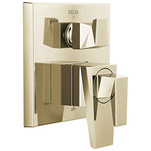 Delta T27843-PN Trillian Two-Handle Monitor 17 Series Valve 3-Setting Shower Trim with Diverter, Polished Nickel