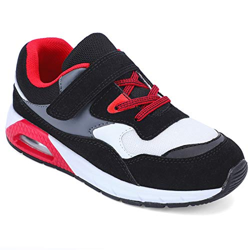 STQ School Shoes Boys Running Shoes Athletic Beathable Tennis Shoes Low-top...