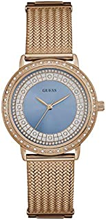 Guess Women's Blue Dial Stainless Steel Band Watch - W0836L1