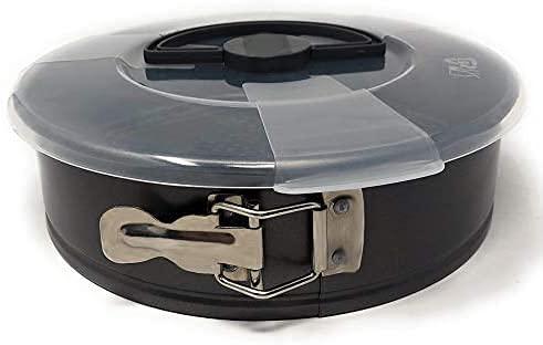 MGE - Tortiera Apribile con Coperchio - Teglia a Cerniera con Rivestimento Antiaderente - 26 cm