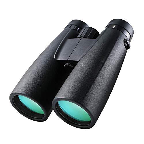 Telescopio 12x50 Binoculares, Binocular Compacto Binocular con Soporte para Smartphone Binocular para Adultos Niños con Luz Débil Visión Nocturna Binocular Transparente para Observación de Ave