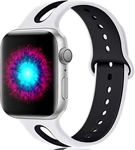 Correa de silicona para Apple Watch band 44mm 40mm iWatch band 38mm 42mm Correa de reloj transpirable apple watch series 5 4 3 se 6