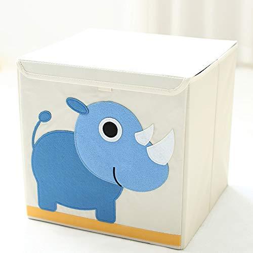 MADHEHAO Caja de Almacenamiento para niños con Tapas, Cubo de Almacenamiento de Dibujos Animados Plegable, Organizador de Caja de Lona para Juguetes, Ropa, hogar, Dormitorio, guardería, Oficina, Sala