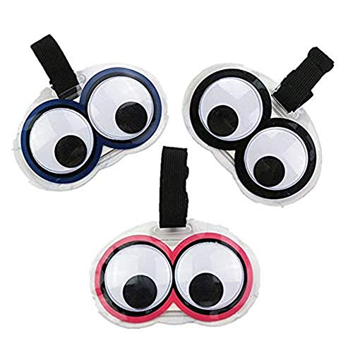 King&Pig 3pcs New Cute Eyes Luggage Tags Suitcase Luggage Tags Travel Accessories Baggage Name Tags (Multicoloured)