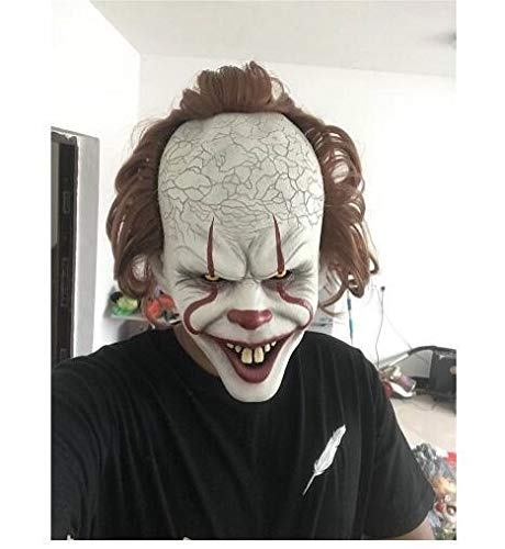 Stephen Kings Es Maske Pennywise Horror Clown Joker Maske Clown Maske Halloween Cosplay Kostüm Requisiten