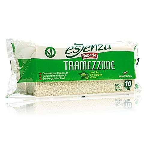 Roberto - Original italienisches Tramezzini Essenza Weißbrot mit Olivenöl - Weissbrot Tramezzone (Toast ohne Rand, Rinde) in 700 g Packung