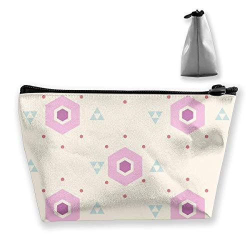 Nette rosa geometrische Frauen-Kosmetiktaschen Multifunktions-Toilettenartikel-Organizer-Taschen,...