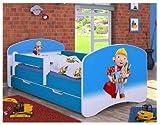 Cuna con colchón y canapé para niños de naka24 azul Bob el constructor...
