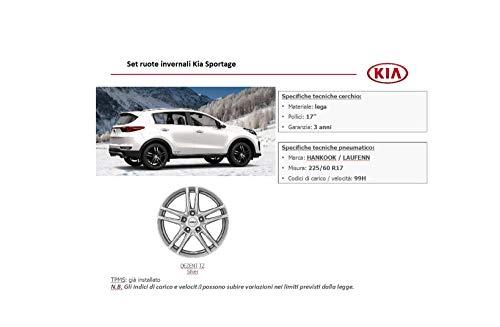 Kia Sportage Komplettes Set mit 4 Rädern für Felgen aus Silberlegierung, 17 Zoll, 225/60 R17 HANKOOK Winter Original