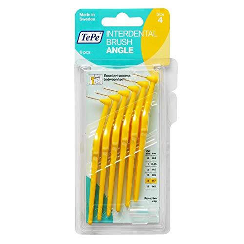 TePe Angle Interdental Brush - 0.75mm Yellow (6 brushes per pack) by Tepe