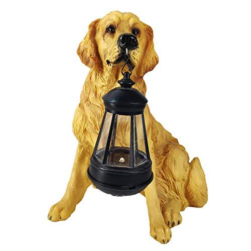 Baoblaze Solar Garden Decorative Lights, Lifelike Dogs Outdoor Lighting for Courtyard, Lawn, Patio, Pathway Ornament Decoration - Golden Retriever