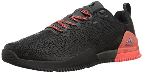 adidas Women's CrazyPower TR Cross Trainer, Black/Red Night/Easy Coral, 8 Medium US
