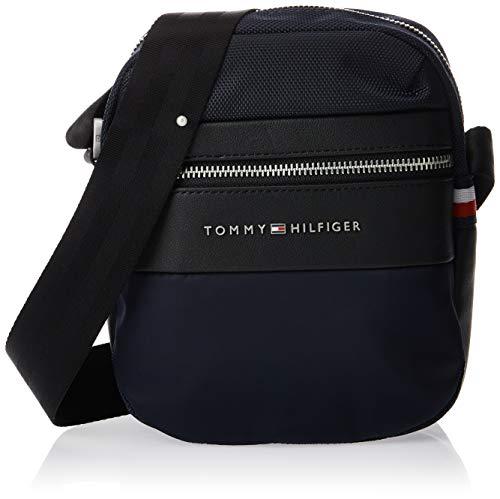 Tommy Hilfiger Herren Nylon Mix Mini Reporter Geldbörse, Blau (Tommy Navy), 1x1x1 cm