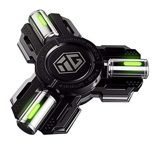 BAOZUPO Gadget Sensorial Finger Hand Spinner Spinner Glow In The Dark Spinning Toys Metal Luminoso Cojinete De Alta Velocidad TDAH Enfoque De Ansiedad Favores De Fiesta Premios para Niños Adultos