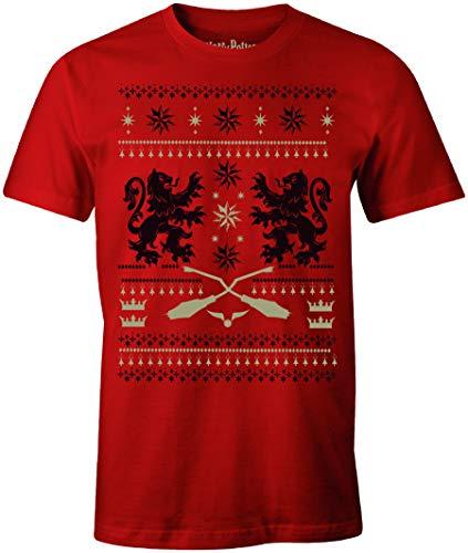 cotton division Herren MEHAPOMTS111 T-Shirt, Rot Melange, XL