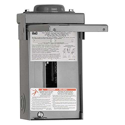 Square D by Schneider Electric HOM24L70RBCP Homeline 70-Amp 2-Space 4-Circuit Outdoor Main Lugs Load Center
