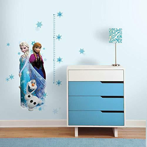 Stickers Repositionnables, Échelle de Mesure Taille Enfant, la Reine Des Neiges