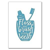 歯ブラシの壁のアートキャンバスの絵画プリントポスター面白いトイレの手の引用箱の装飾のための壁の写真 (Color : D, Size (Inch) : 60x90cm No Frame)