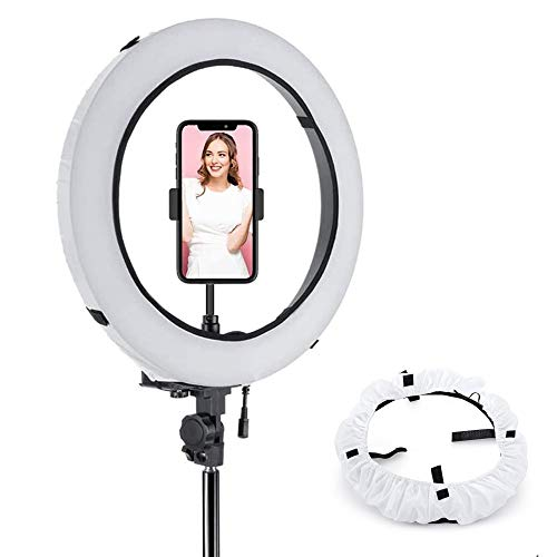 WENWELL Collapsible 12 Inch Ring Light Stand Softbox Diffuser,Circle Cover Sock for Soft Lighting in Photography and Video,Camera Phone Fluorescent Flashing led Selfie Light Accessories