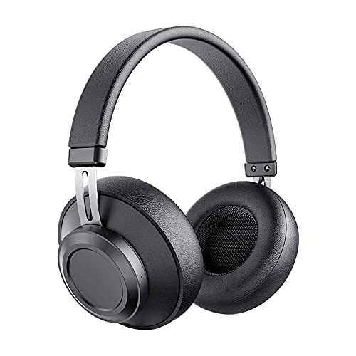 Cuffie Bluetooth, Bluedio BT5 Cuffie Wireless Bluetooth 5.0 [20 Ore di Riproduzione], Cuffie Over Ear Proteiche con Memoria Morbida, Microfono Incorporato, Chiamata in Vivavoce per Cellullari - Nero