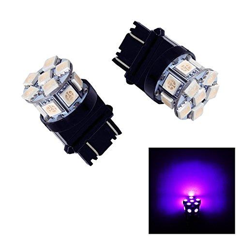 PA 2 x 13smd LED 3157 3457 A 3156 Arrêt automatique de la lumière/arrière/Side Marker Light/feu arrière/Turn Signal ampoules 12 V (Violet)