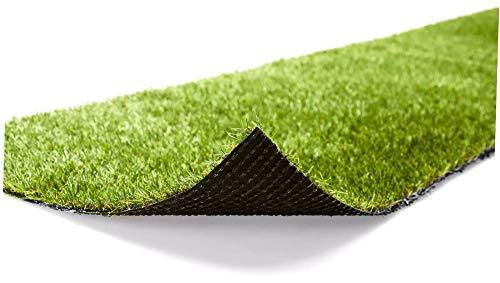 Futurazeta - Grüner Rasen, Teppichboden, Kunstrasen, Drainage, Maße: 200 x 200 cm, Dicke 10 mm. Kunstrasen-Kunstrasen, hohe Qualität, Rand und Boden, für Pool, Gartenmöbel