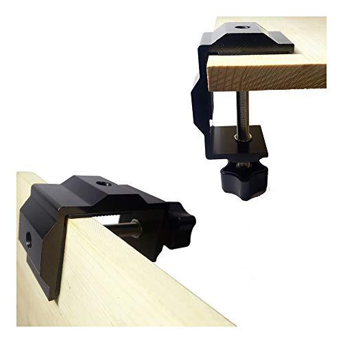 DANXQ Multifunzionale Orizzontale Verticale Collegamento a 2 Vie in Lega di Alluminio Morsetto di Regolazione manuale Vite Morsetto di Regolazione, Spessore di serraggio 1,96 Pollici (Nero)