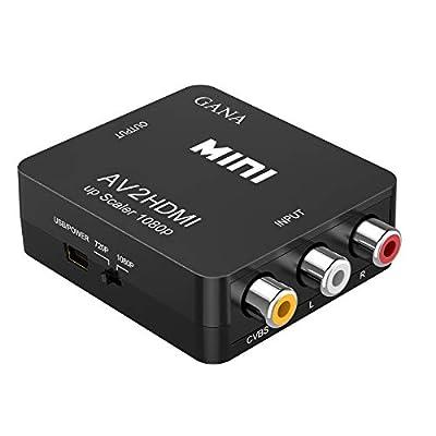 RCA to HDMI変換コンバーター GANA AV to HDMI 変換器 AV2HDMI USBケーブル付き 音声転送 1080/720P切り替え (コンポジットをHDMIに変換アダプタ) 映像編集機